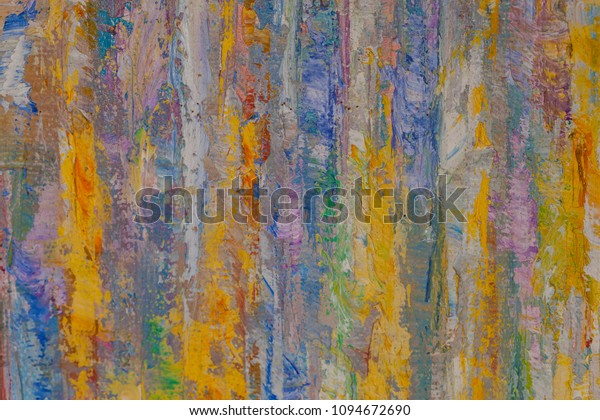 Abstract Oil Paint Texture