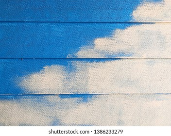 Abstract oil painting on artificial wood background.