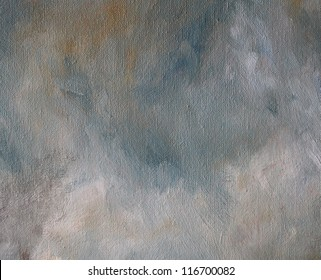 Abstract oil stains on canvas background