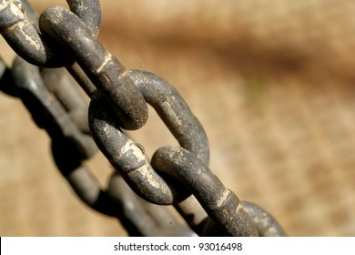 Abstract of old chain