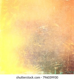 Abstract old colorful paint background wall illustration design.
