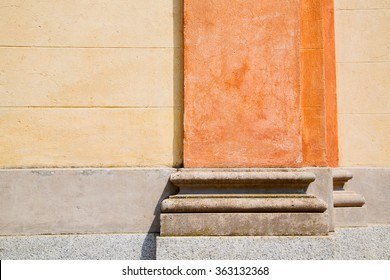 abstract old column in the  country  of europe italy and marble    brick