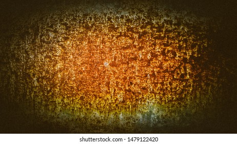 Abstract old orange galvanized sheet that has rust corrosion, rough ground and decay,with beautiful pattern Oval background with empty space for backdrop,copy space for input text or image decoration.