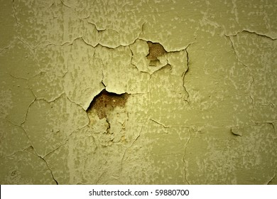 abstract of old paint peeling wall