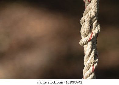 Abstract old tied rope with copy space