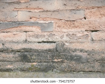 Abstract old vintage Brick wall background pattern
