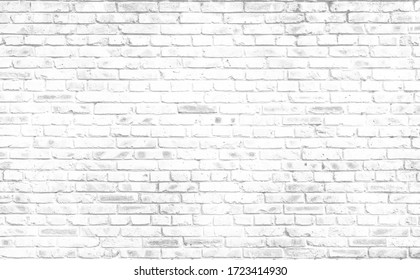 Abstract old white brick wall textured background - Shutterstock ID 1723414930