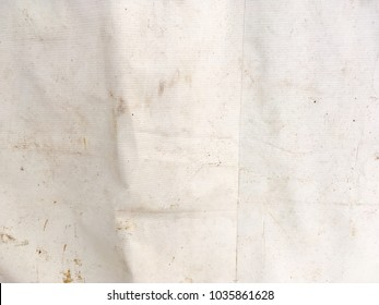 Abstract old white tent surface texture for background