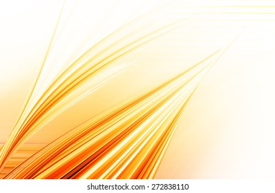 abstract  orange   background  and digital wave with motion blur