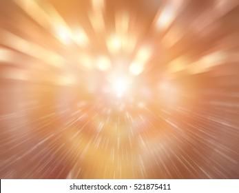 Abstract orange background. Explosion star. illustration digital.