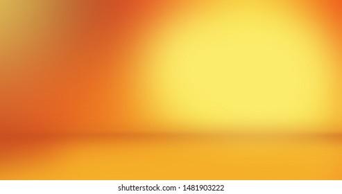 Abstract Orange Background. light corner spotlight