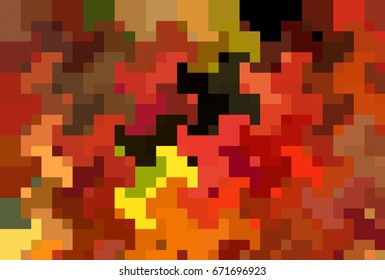 Abstract orange mosaic background. illustration beautiful.