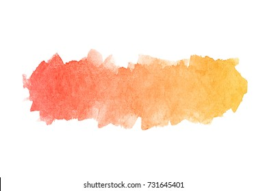 Abstract orange watercolor on paper texture