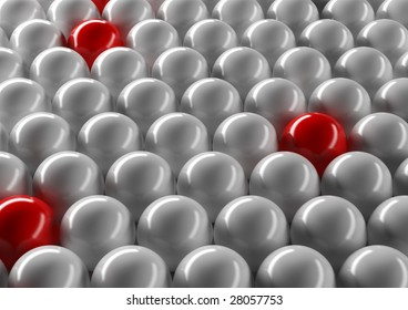 Abstract ordered spheres background