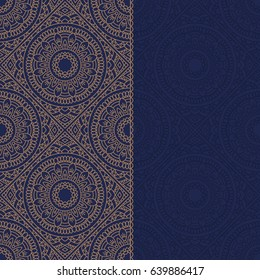 Abstract oriental pattern with place for text.