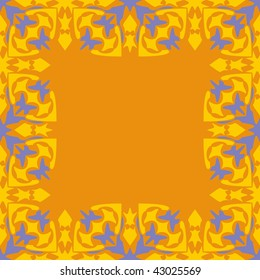 abstract ornamented frame, seamless repeat pattern