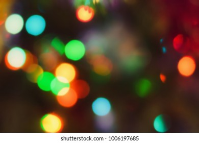 Abstract outline of light- colored circles bokeh. Blurred background