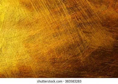 Abstract paint background with golden and bronze colors