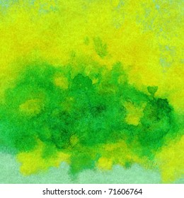 Abstract paint background: watercolor on a fabric, natural woollen mohair