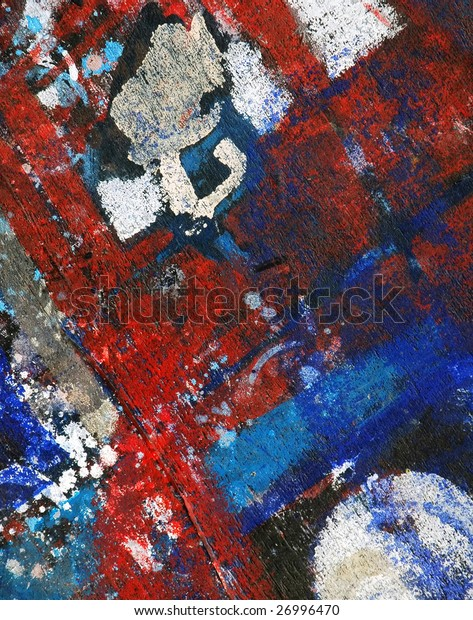 abstract paint on wood background