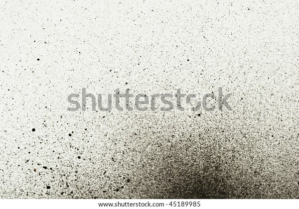 An abstract paint splatter frame in black and white