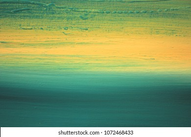 Abstract Painted Background, hand painted art Seascape