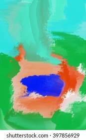 abstract painting detail