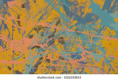 Abstract painting. Ink handmade image. Modern artistic pattern. Colorful texture. Artistic canvas.