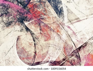 Abstract painting soft color texture. Grunge artistic background. Grey pattern. Fractal artwork for creative graphic design