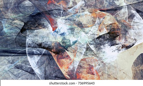 Abstract painting soft color texture. Bright artistic background. Blue dynamic pattern. Fractal artwork for creative graphic design.
