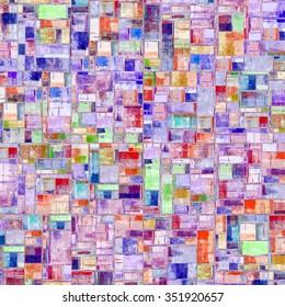 Abstract painting. Wall tiles. Mosaic. Ceramic