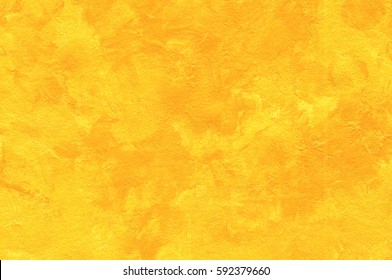 Abstract Painting Yellow Background