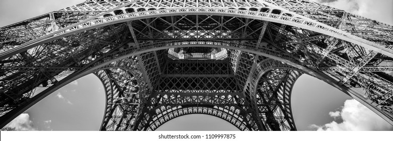 Abstract panorama of the Eiffel tower, Paris France
