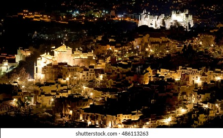 abstract panoramic of the city of Toledo, Spain,  Castilla La Mancha, expressionism,