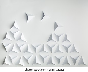 abstract paper  background concept  reorganisation