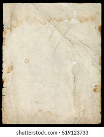Abstract paper page texture with paint, stains, folds and dirt