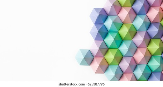 Abstract paper pyramid background. Copy space available. Usefull for business cards and web