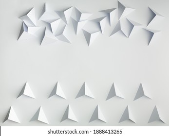 abstract paper tetrahedron background concept order vs chaos