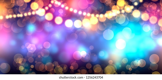 Abstract party colorful blurred background for christmas nightcelebration