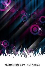 an abstract party/event template for design