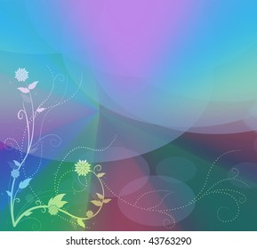 Abstract Pastel Floral Background