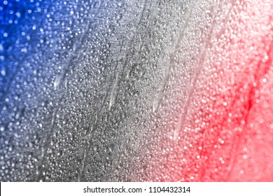 Abstract patriotic red, blue, and white background for conceptual image for Happy July 4th.