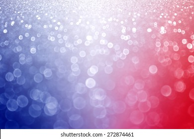 Abstract patriotic red white and blue glitter sparkle background