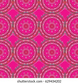 Abstract pattern in Arabian style. Seamless background. Yellow and red texture. Graphic modern pattern.