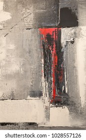 Abstract Pattern from ArtWork in Red and Gray.
