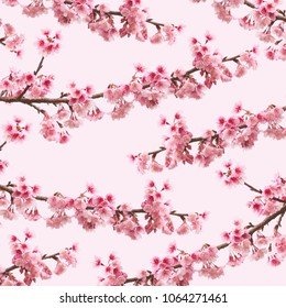 Abstract Pattern Cherry blossom flowers, Sakura background