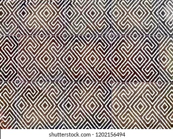 Abstract pattern design selective focus of decorative tile to laminate on the floor. Art texture background.