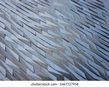 Abstract pattern found on an iconic building in Belfast, Northern Ireland. Great for backgrounds and wallpapers.