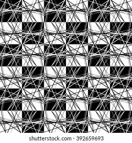 Abstract pattern with random lines. Seamlessly repeatable.
