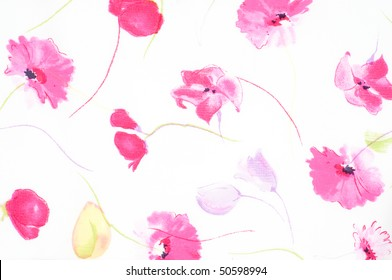 Abstract pattern with tiny flowers